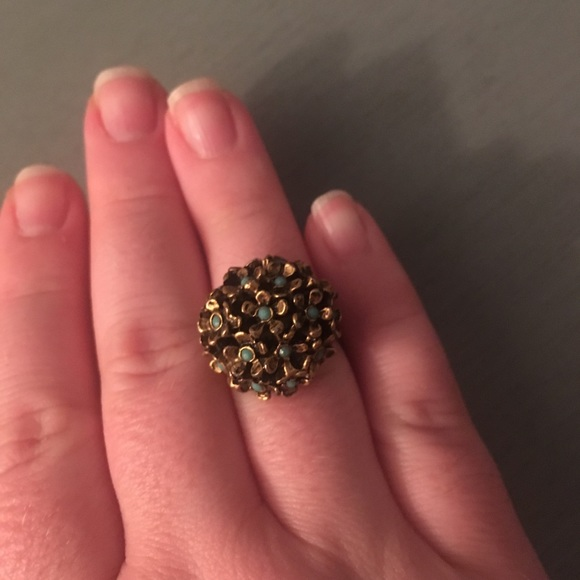 Vintage Jewelry - Vintage Flower Gold Tone Ring